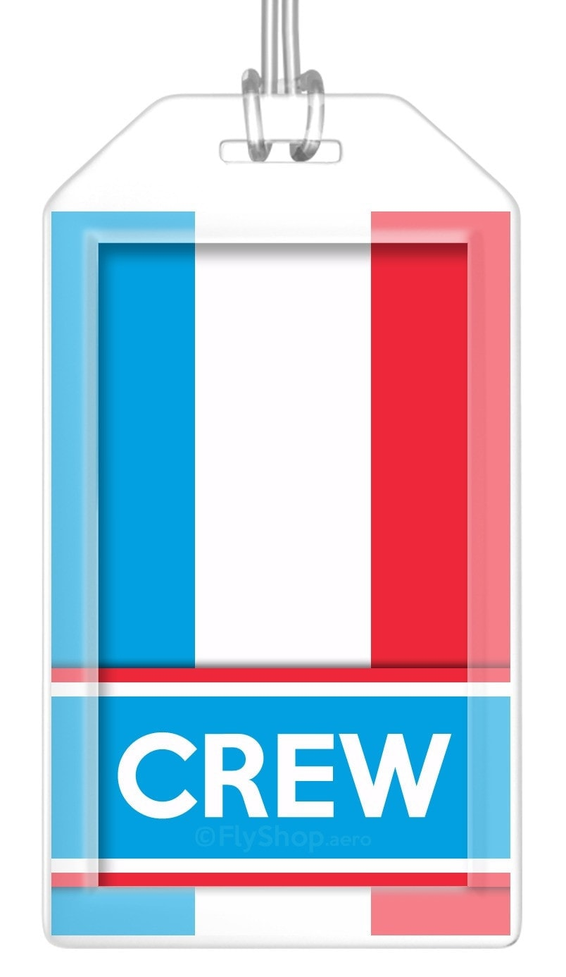 Luxembourg Flag Crew Bag Tag (Set of 2)