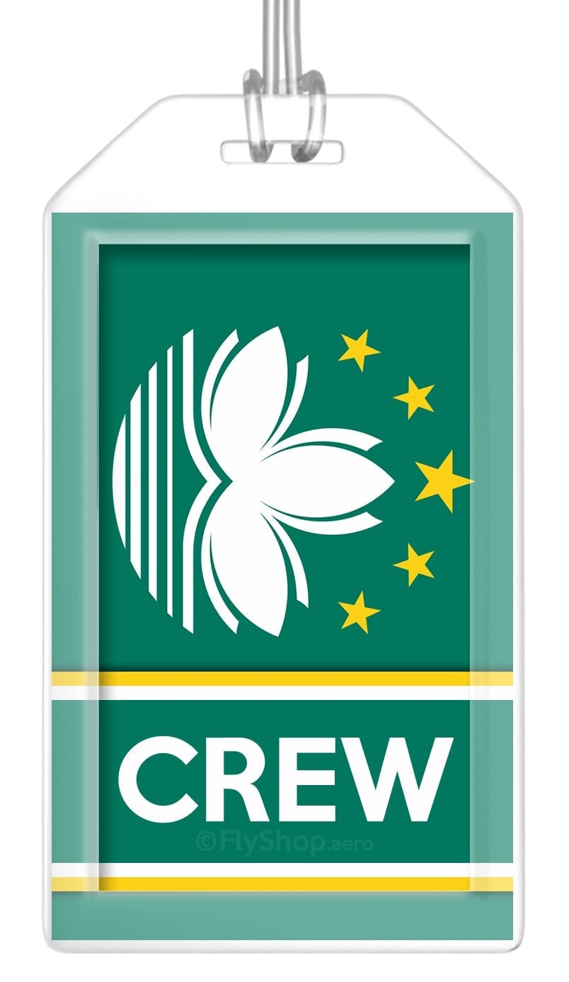 Macau Flag Crew Bag Tag (Set of 2)