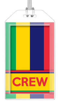 Mauritius Flag Crew Bag Tag (Set of 2)