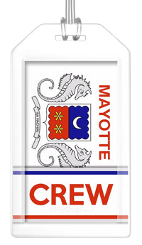Mayotte Flag Crew Bag Tag (Set of 2)