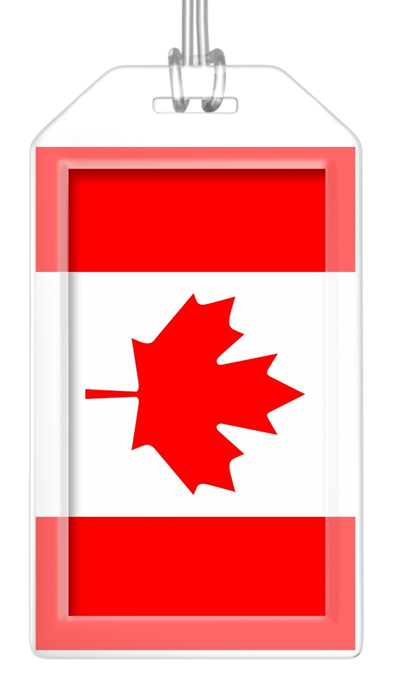Canada Flag Bag Tag (Set of 2)
