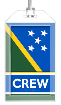 Solomon Islands Flag Crew Bag Tag (Set of 2)