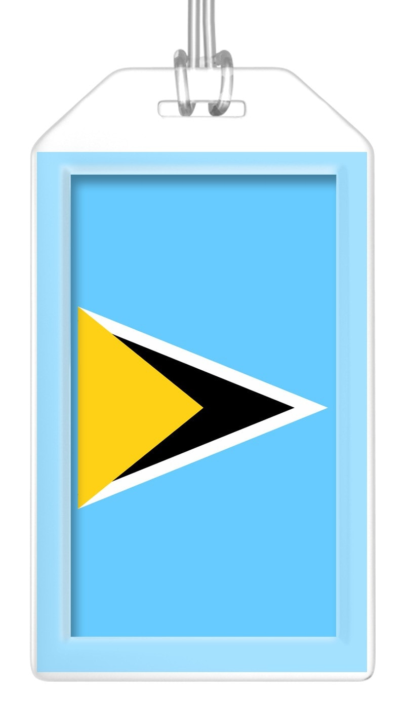St. Lucia Flag Bag Tag (Set of 2)