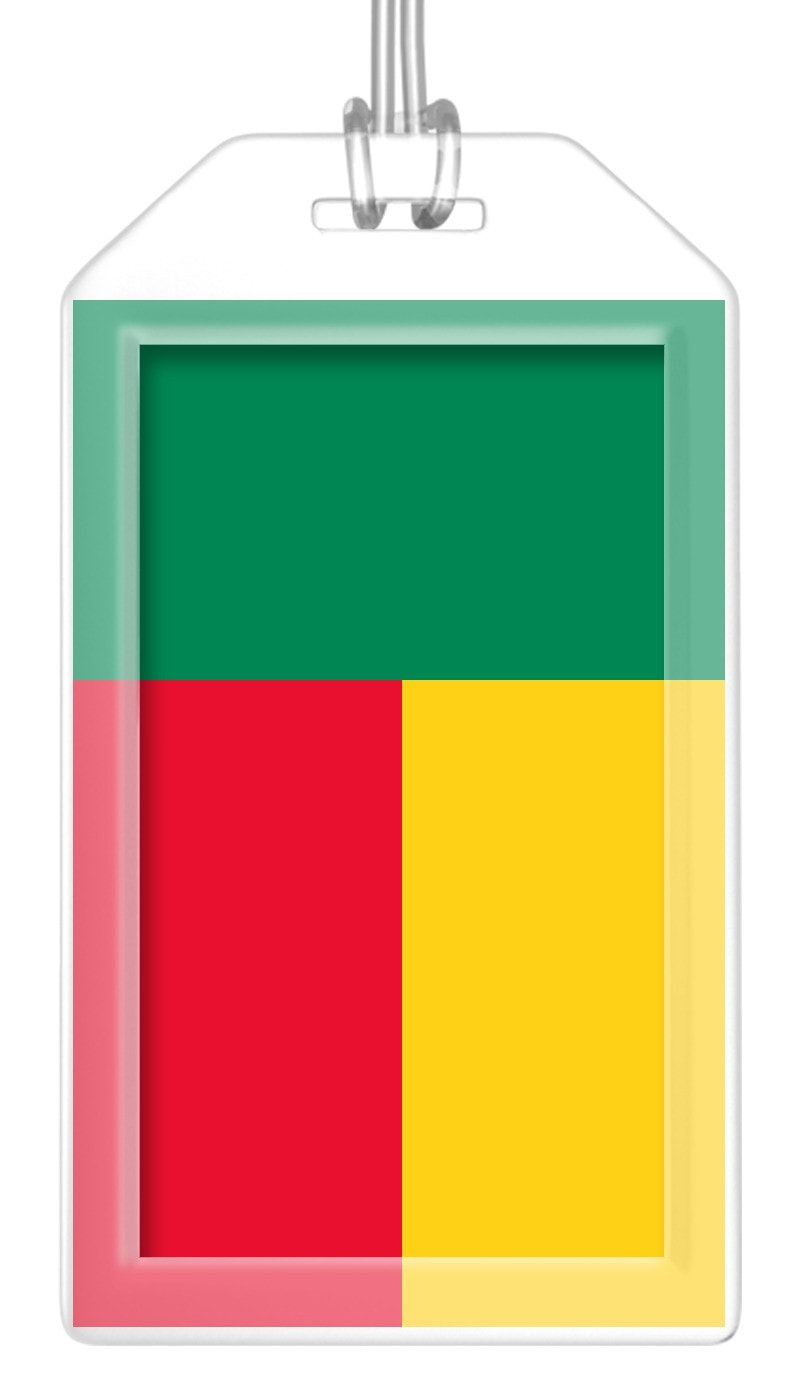 Benin Flag Bag Tag (Set of 2)