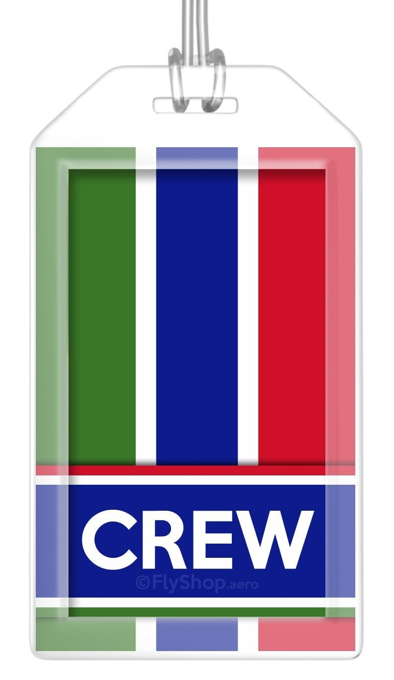 Gambia Flag Crew Bag Tag (Set of 2)