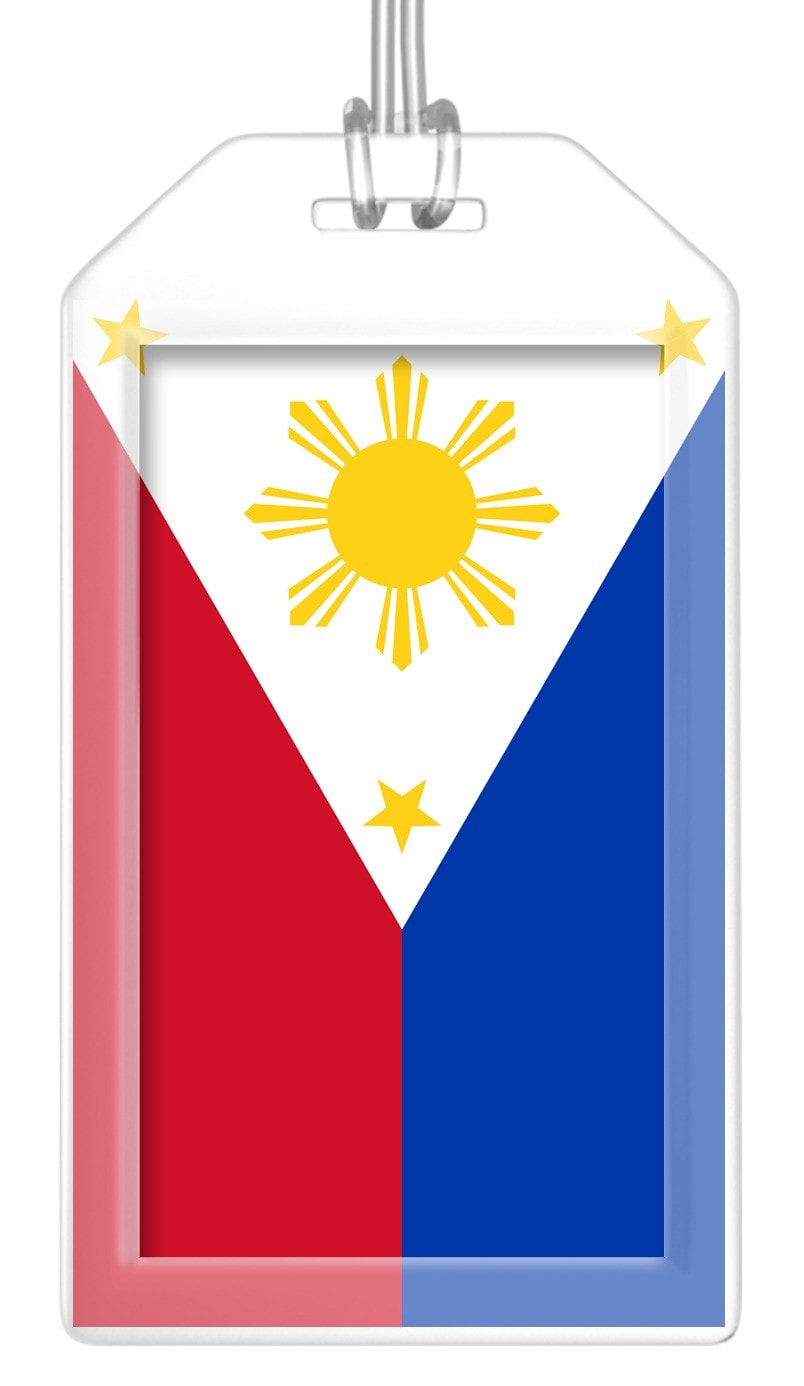 Philippines Flag Bag Tag (Set of 2)