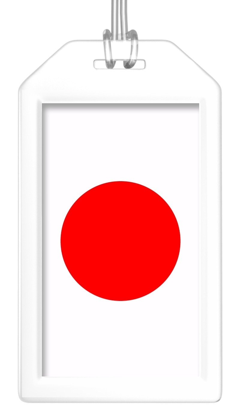 Japan Flag Bag Tag (Set of 2)