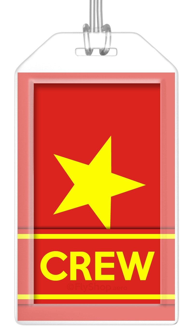 Vietnam Flag Crew Bag Tag (Set of 2)