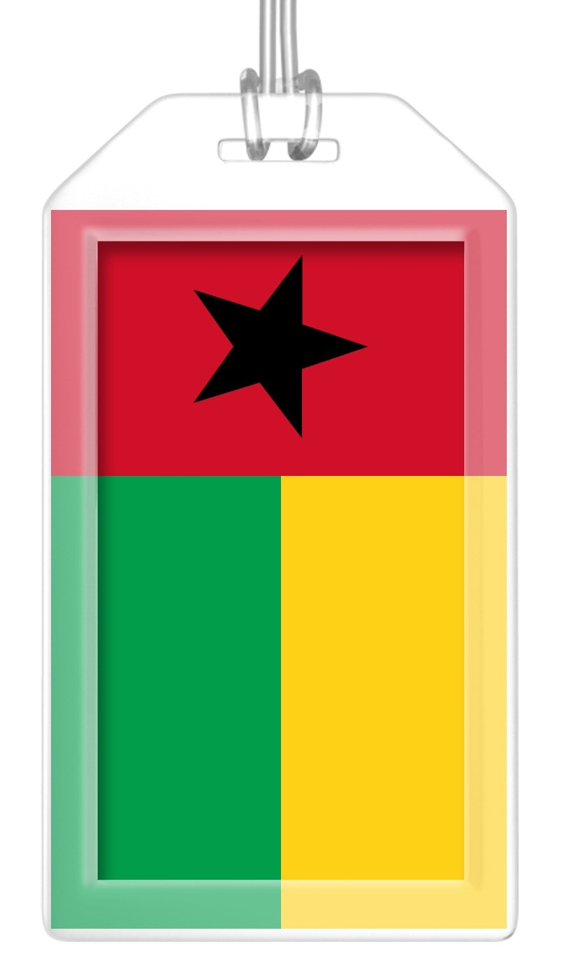 Guinea Bissau Flag Bag Tag (Set of 2)
