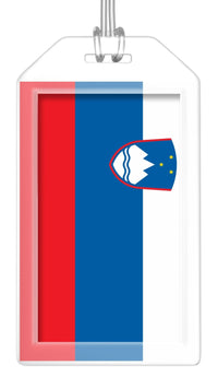 Slovenia Flag Bag Tag (Set of 2)