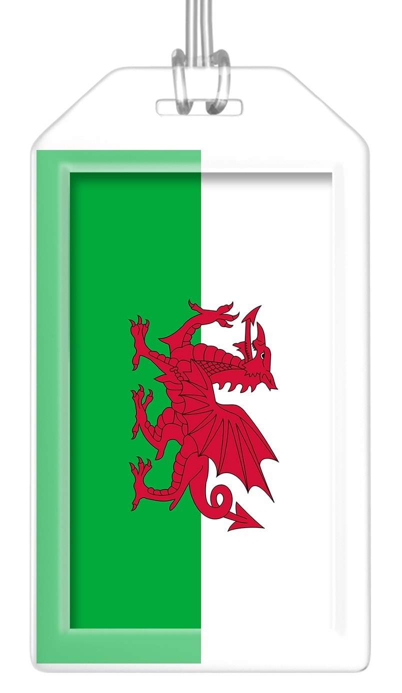 Wales Flag Bag Tag (Set of 2)