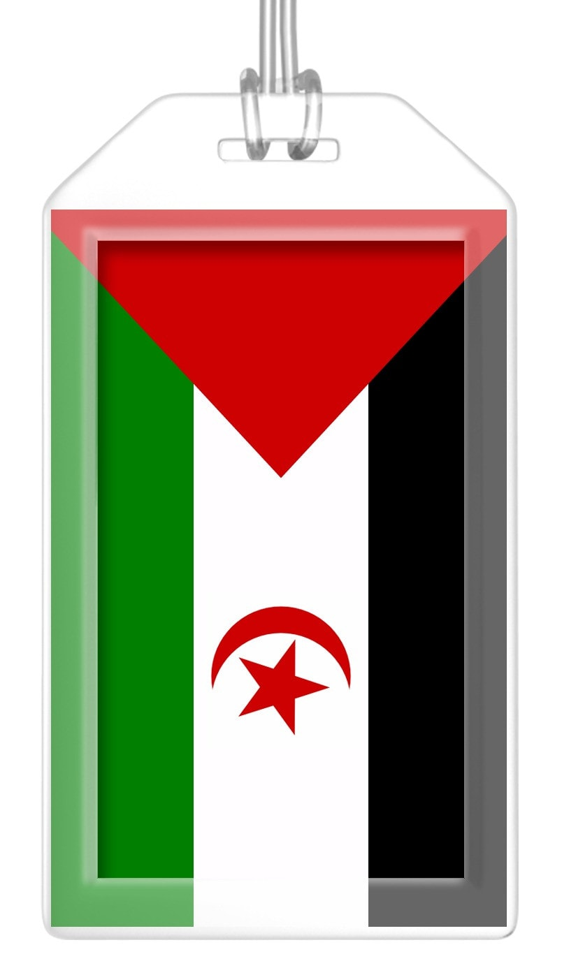 Western Sahara Flag Bag Tag (Set of 2)