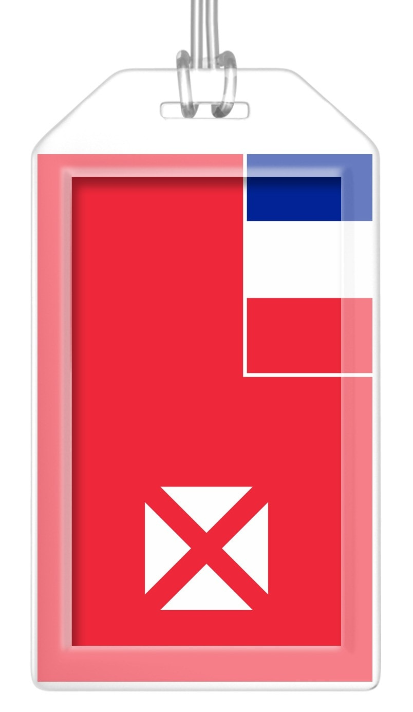 Wallis and Futuna Islands Flag Bag Tag (Set of 2)
