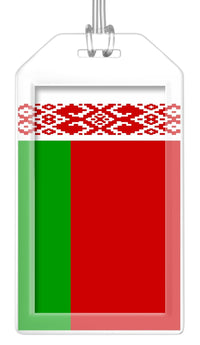 Belarus Flag Bag Tag (Set of 2)