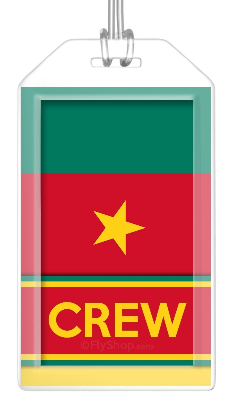 Cameroon Flag Crew Bag Tag (Set of 2)