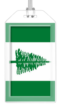 Norfolk Island Flag Bag Tag (Set of 2)