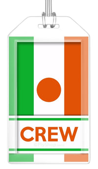 Niger Flag Crew Bag Tag (Set of 2)