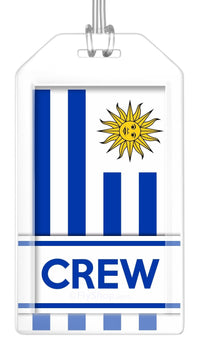 Uruguay Flag Crew Bag Tag (Set of 2)
