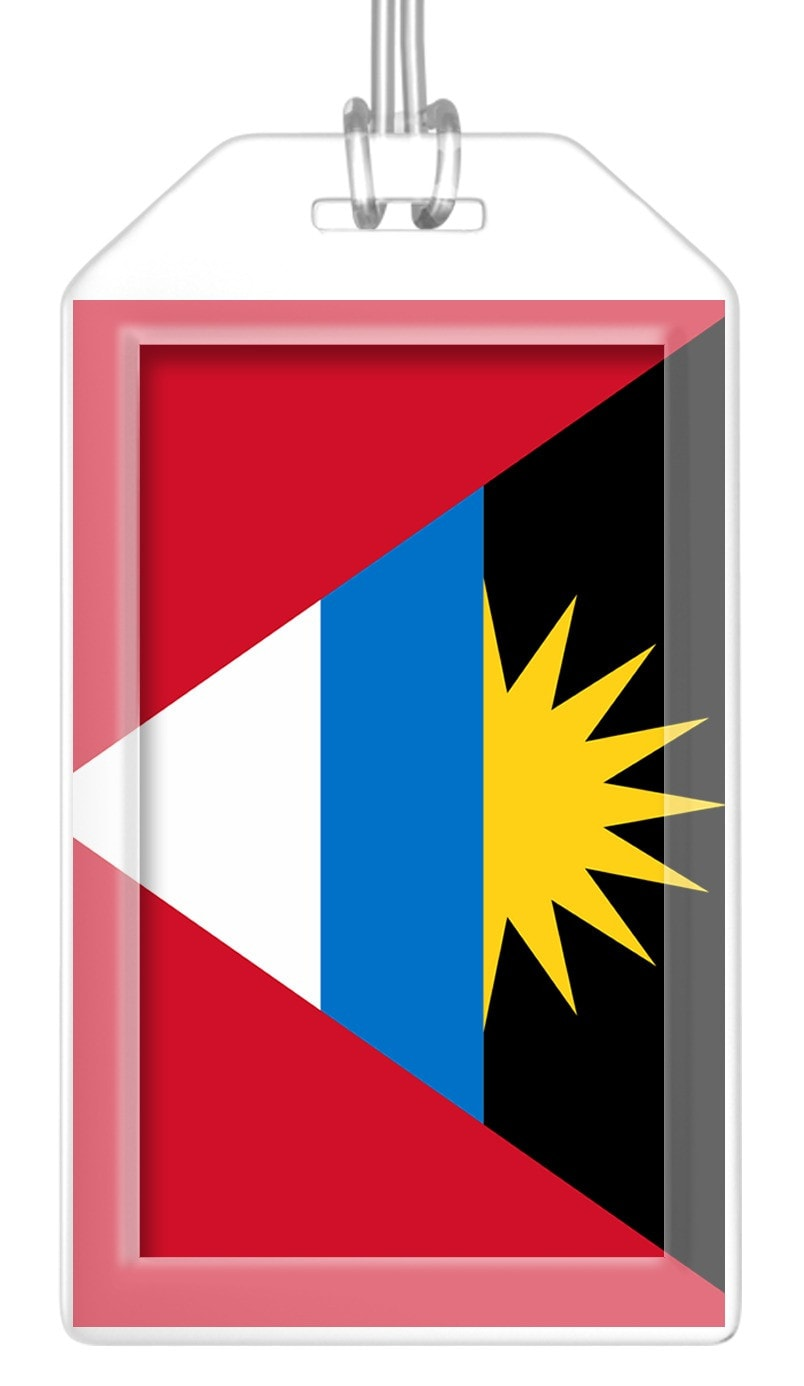 Antigua and Barbuda Flag Bag Tag (Set of 2)