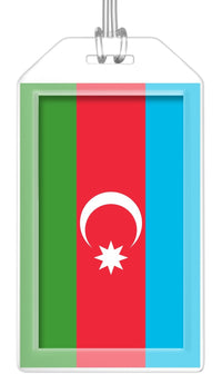 Azerbaijan Flag Bag Tag (Set of 2)