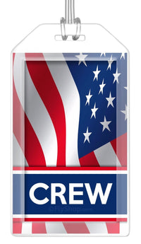 USA (Variant) Flag Crew Bag Tag (Set of 2)