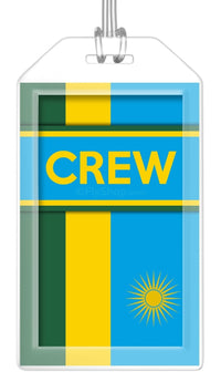 Rwanda Flag Crew Bag Tag (Set of 2)