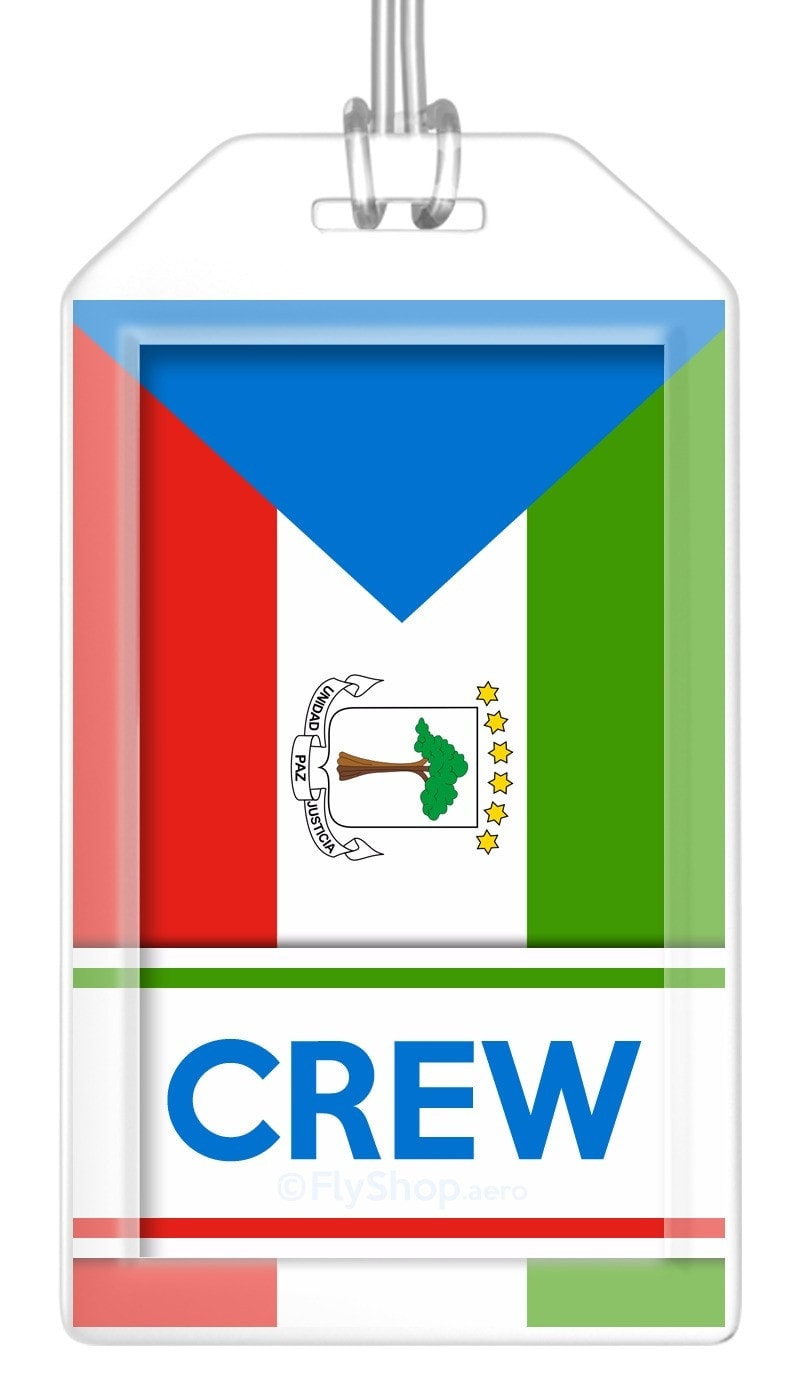 Equatorial Guinea Flag Crew Bag Tag (Set of 2)