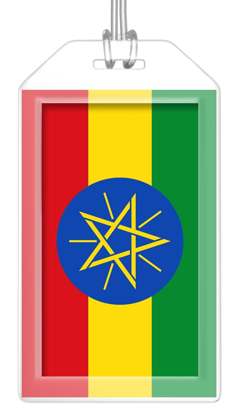 Ethiopia Flag Bag Tag (Set of 2)