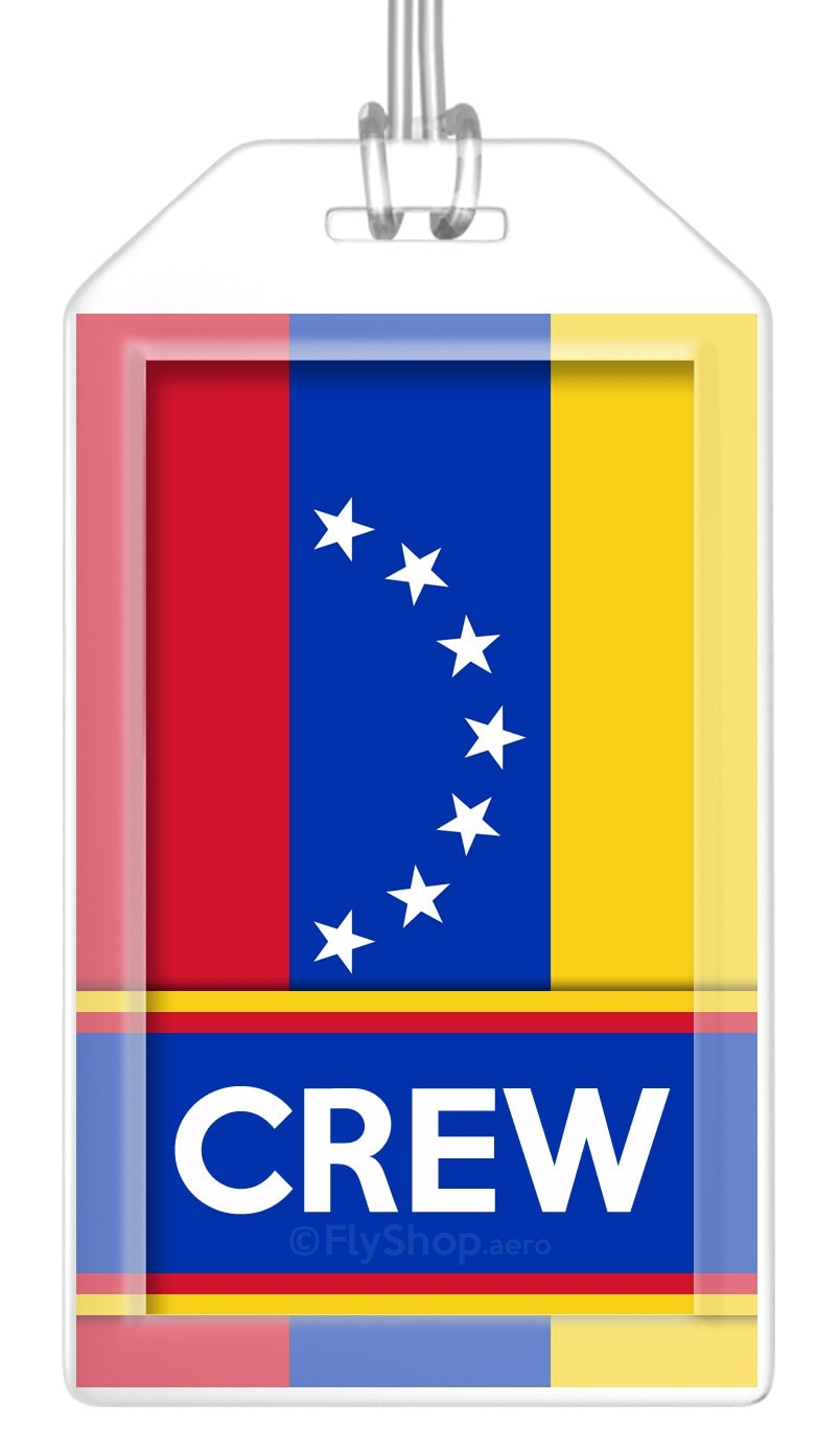 Venezuela Flag Crew Bag Tag (Set of 2)