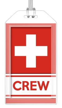 Switzerland Flag Crew Bag Tag (Set of 2)
