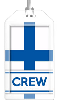 Finland Flag Crew Bag Tag (Set of 2)