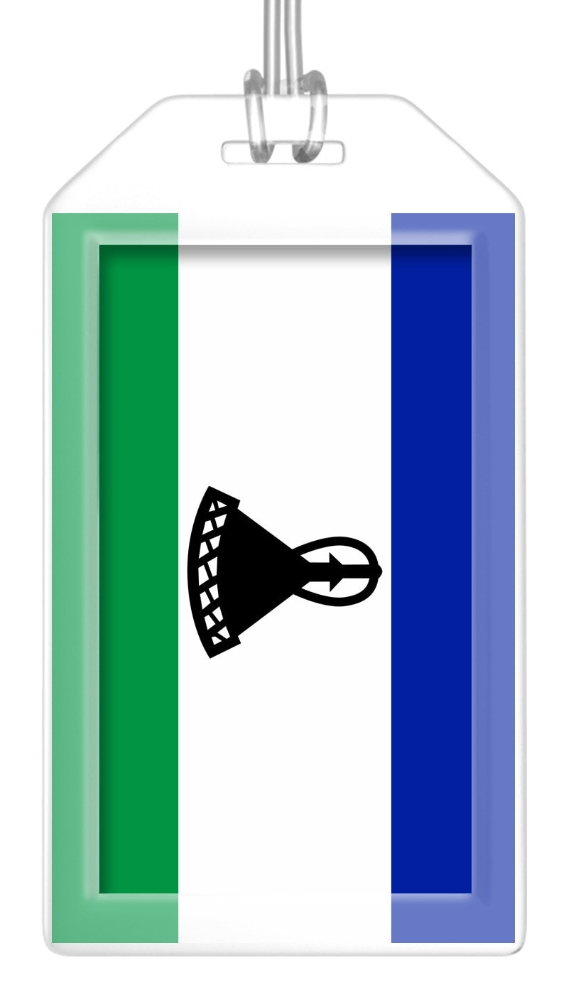 Lesotho Flag Bag Tag (Set of 2)
