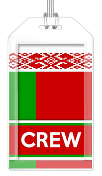 Belarus Flag Crew Bag Tag (Set of 2)