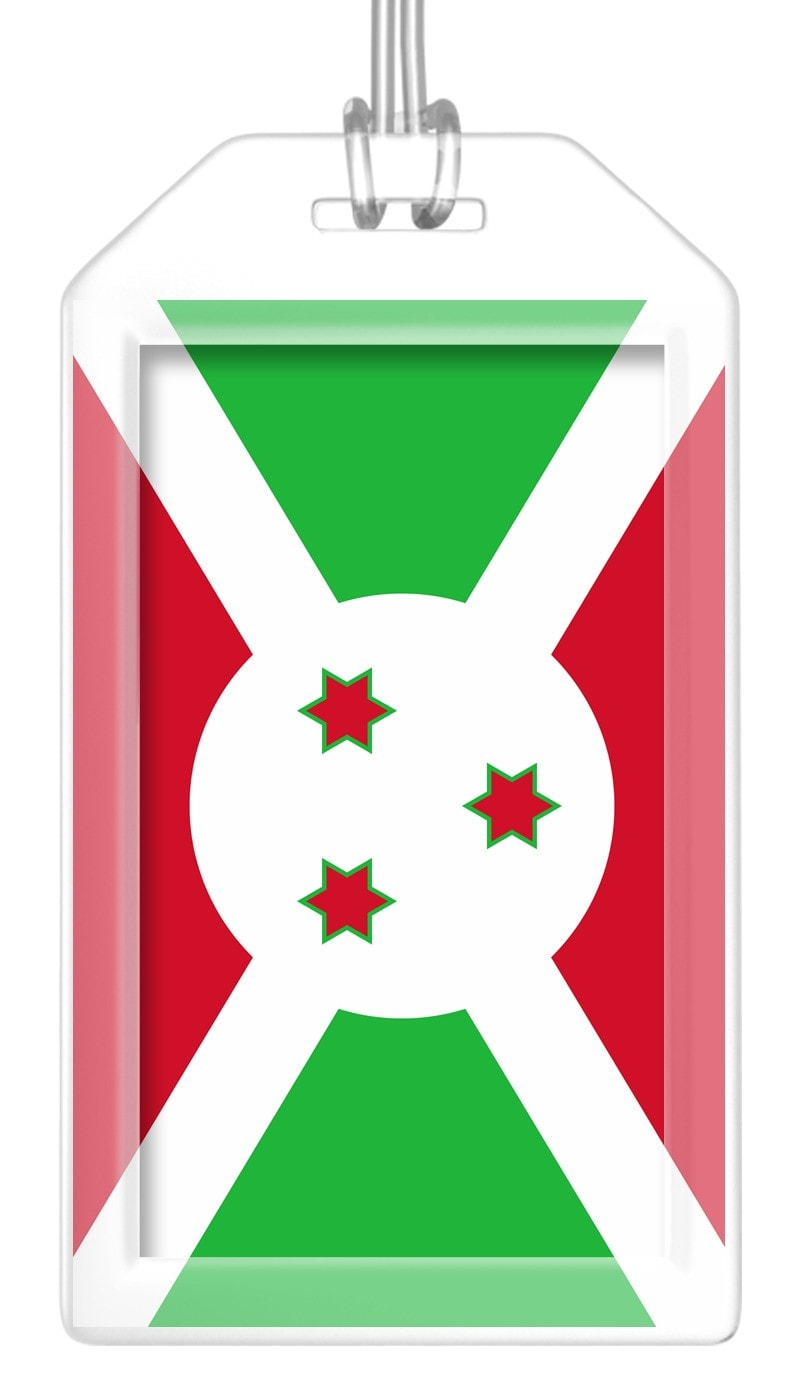 Burundi Flag Bag Tag (Set of 2)