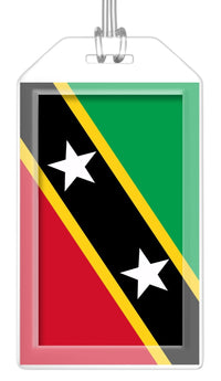 St. Kitts and Nevis Flag Bag Tag (Set of 2)