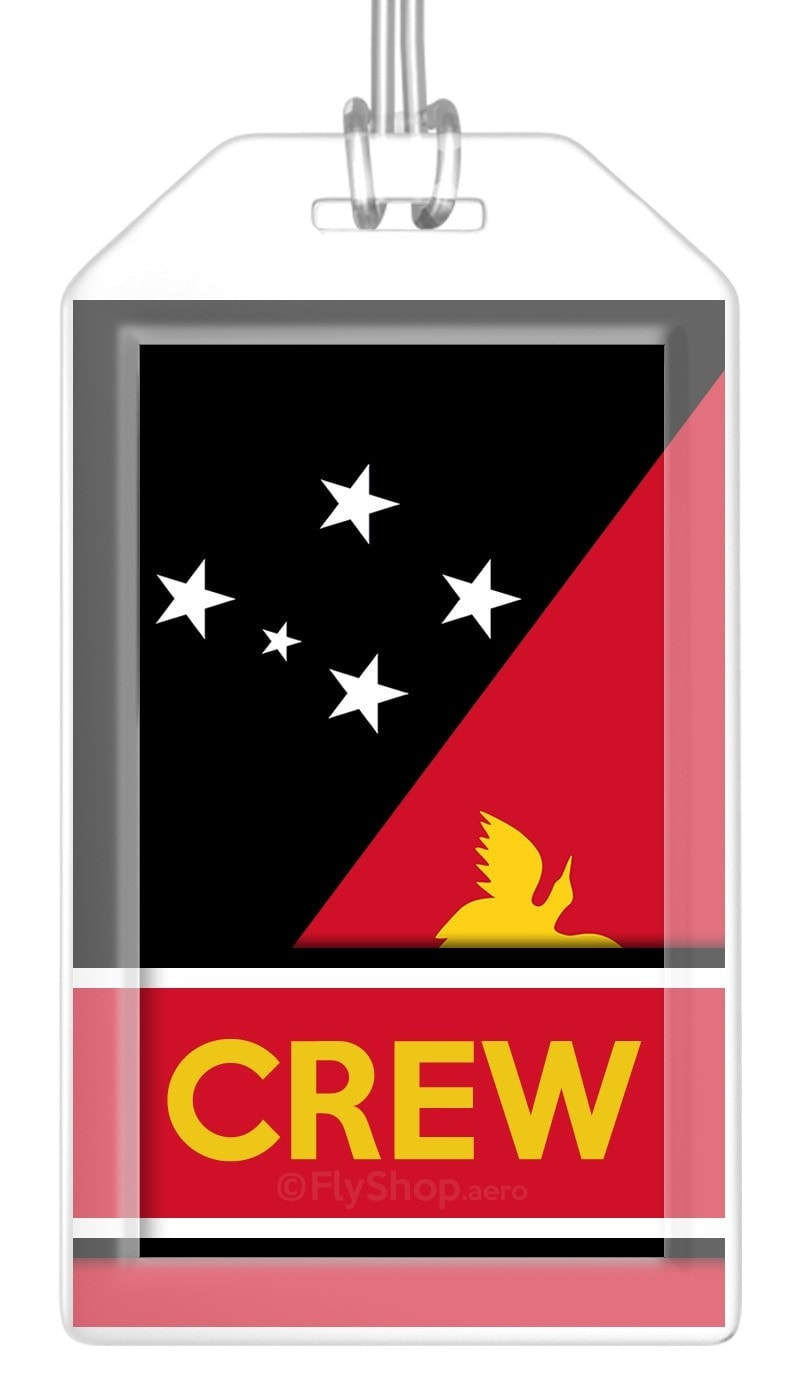 Papua New Guinea Flag Crew Bag Tag (Set of 2)