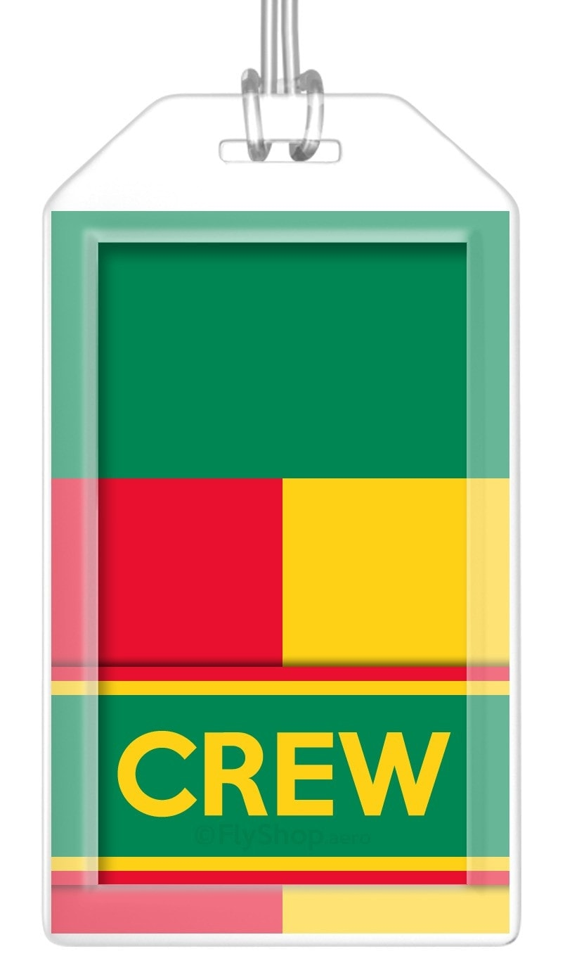 Benin Flag Crew Bag Tag (Set of 2)