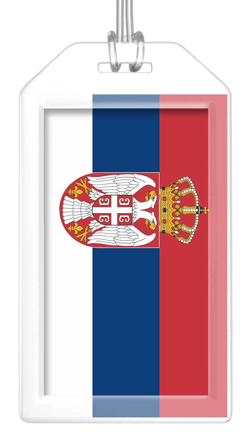 Serbia Flag Bag Tag (Set of 2)