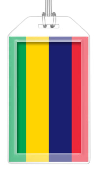 Mauritius Flag Bag Tag (Set of 2)