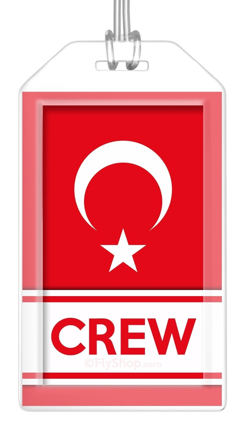 Turkey Flag Crew Bag Tag (Set of 2)