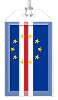 Cape Verde Flag Bag Tag (Set of 2)