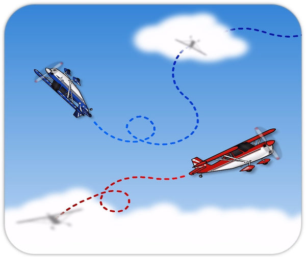 Cartoon Aerobatics Mousepad