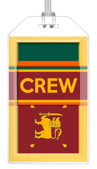 Sri Lanka Flag Crew Bag Tag (Set of 2)