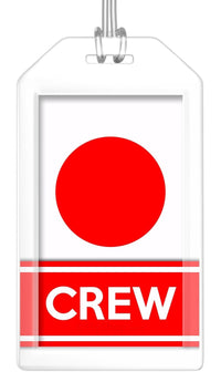 Japan Flag Crew Bag Tag (Set of 2)