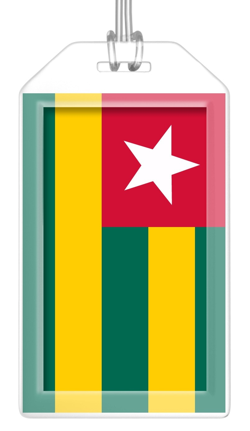 Togo Flag Bag Tag (Set of 2)