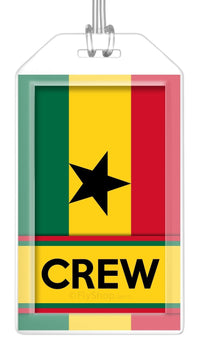 Ghana Flag Crew Bag Tag (Set of 2)