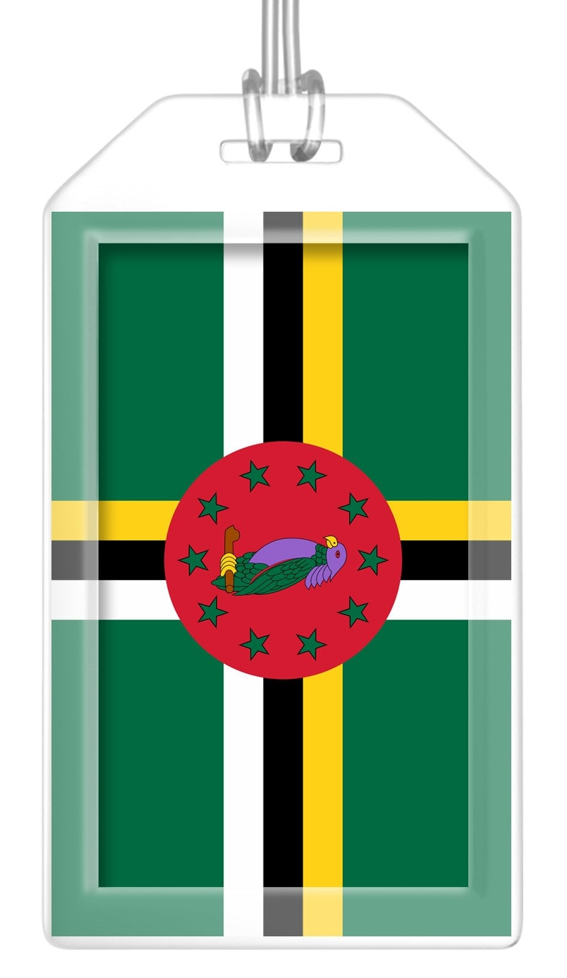 Dominica Flag Bag Tag (Set of 2)
