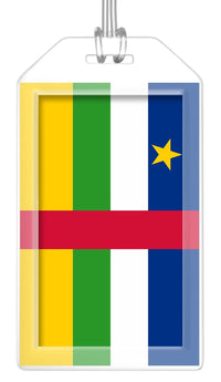 Central African Republic Flag Bag Tag (Set of 2)