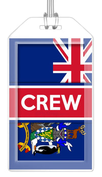 South Georgia and South Sandwich Islands Flag Crew Bag Tag (Set of 2)