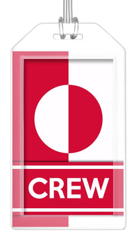 Greenland Flag Crew Bag Tag (Set of 2)